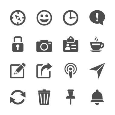 website menu icon set, vector eps10