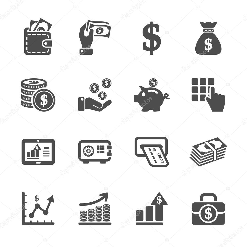 Finance Icon Set: Money And Finance Icon Set, Vector Eps10