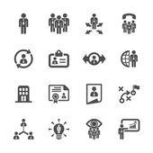 ikona řízení lidských zdrojů set 2, vector eps10