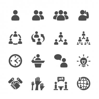 business and management icon set 7, vector eps10