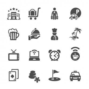 hotel icon set 2, vector eps10
