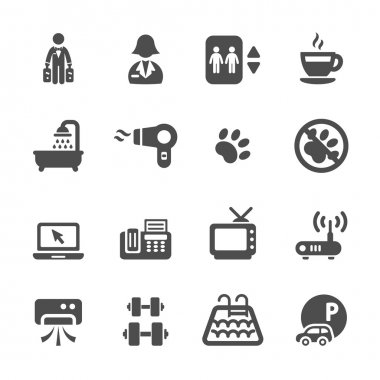 hotel service icon set 7, vector eps10