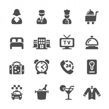 hotel service icon set 6, vector eps10