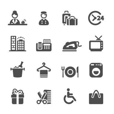 hotel service icon set 9, vector eps10