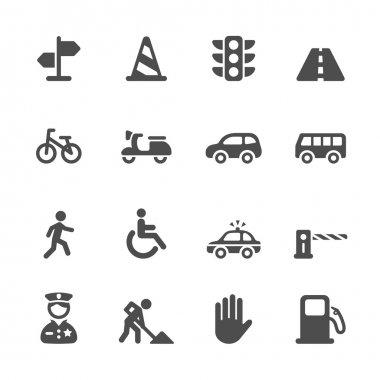 traffic icon set, vector eps10