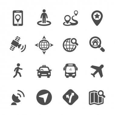 map icon set 3, vector eps10