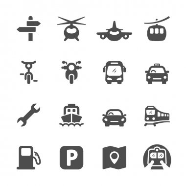transportation icon set 2, vector eps 10