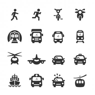 transportation and vehicles icon set 5, vector eps 10