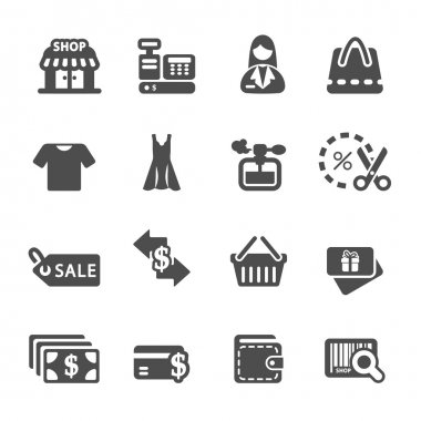 shopping icon set 7, vector eps10