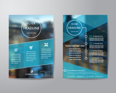 Business brochure flyer design layout template in A4 size, with blur background, vector eps10. stock vector