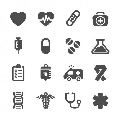 medical icon set, vector eps10