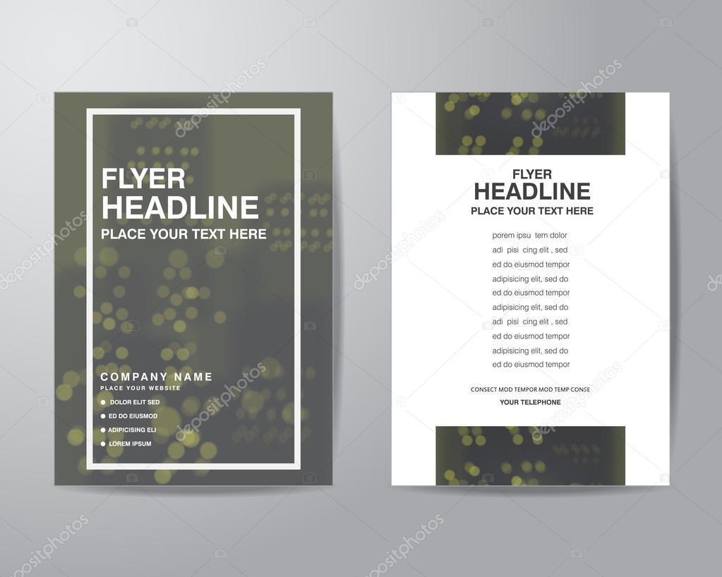 simple blur background brochure flyer design layout template in stock vector