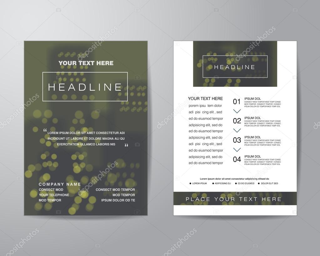 simple blur background brochure flyer design layout template in