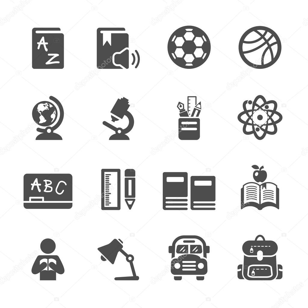 Education icon set, vector eps10