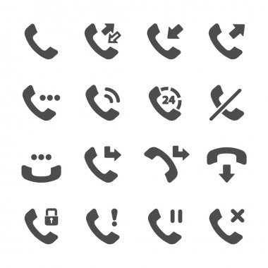 telephone call icon set, vector eps10