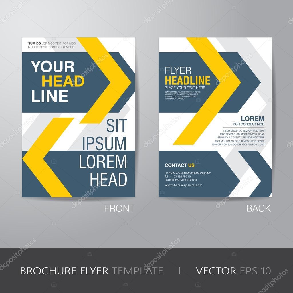 imagebroschre flyer gestaltung layout vorlage im a4 format mit anschnitt vektor eps10 vektor von rungrote - Imagebroschure Beispiele