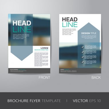 Corporate brochure flyer design layout template in A4 size, with bleed, vector eps10. clip art vector
