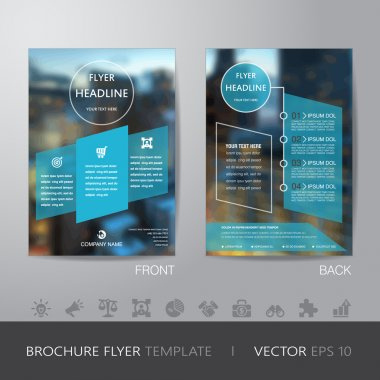 corporate blur background brochure flyer design layout template