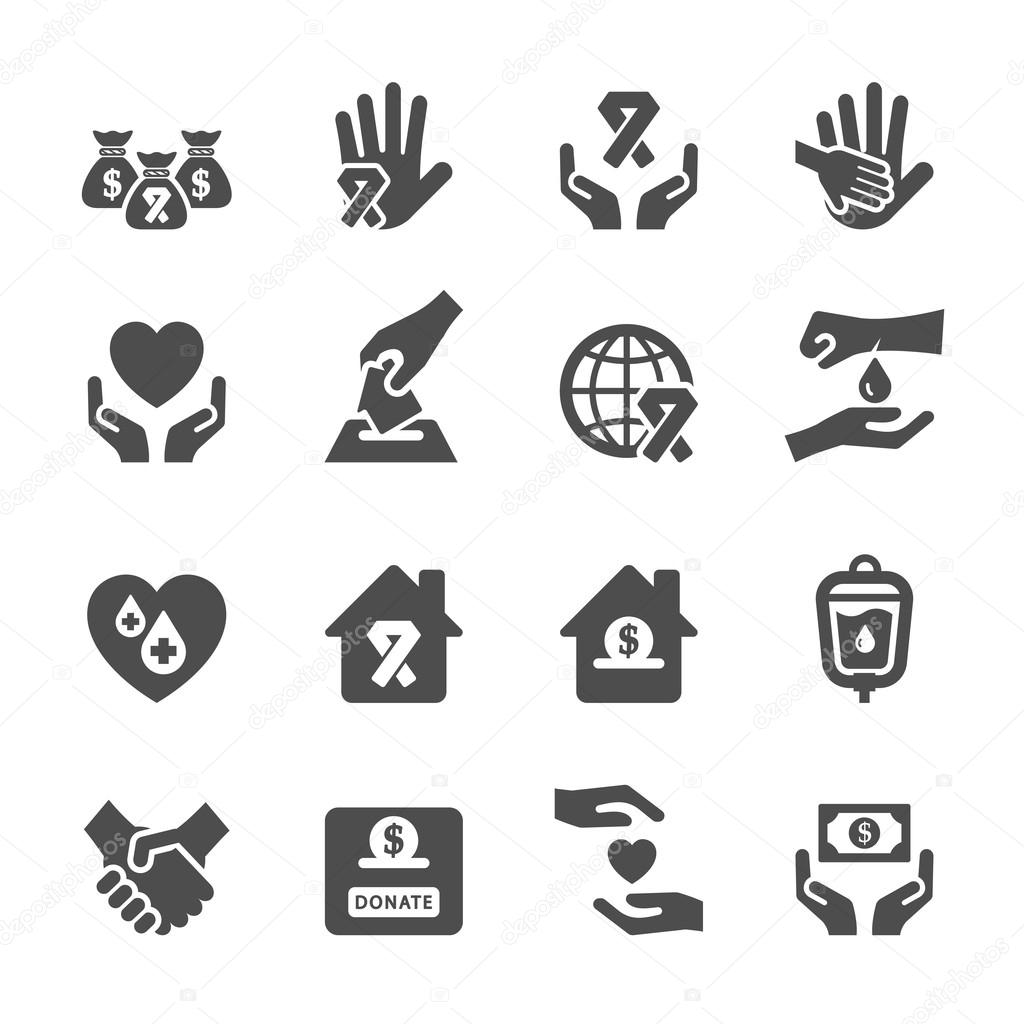 Charity and donation icon set 6, vector eps10
