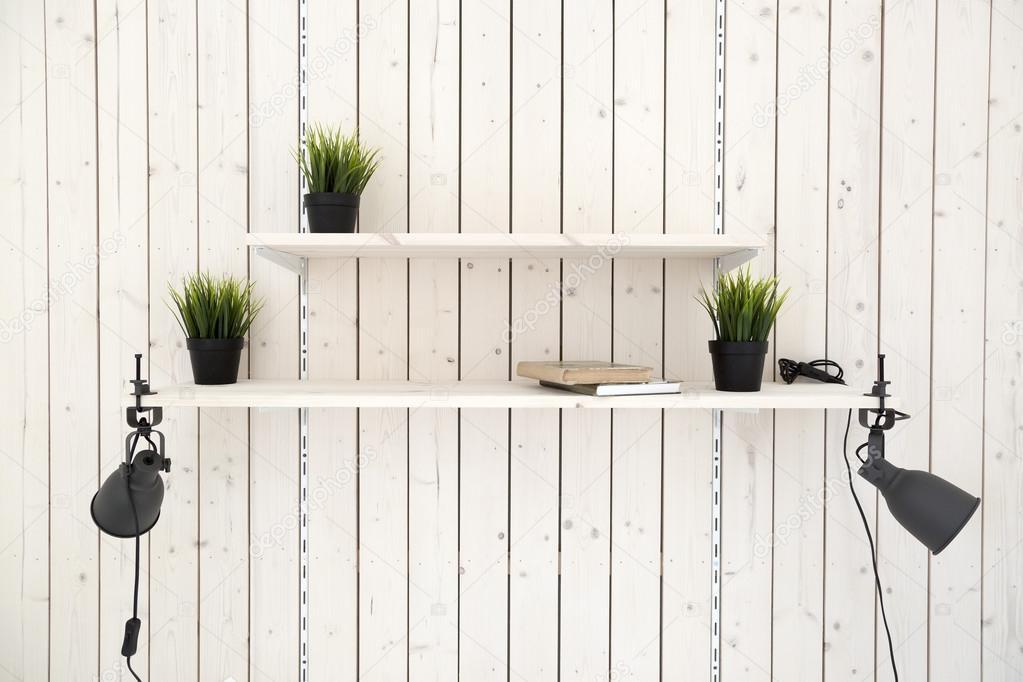 Legplanken Aan Muur.Legplanken Op Houten Plank Muur Stockfoto C Ronstik 107026018