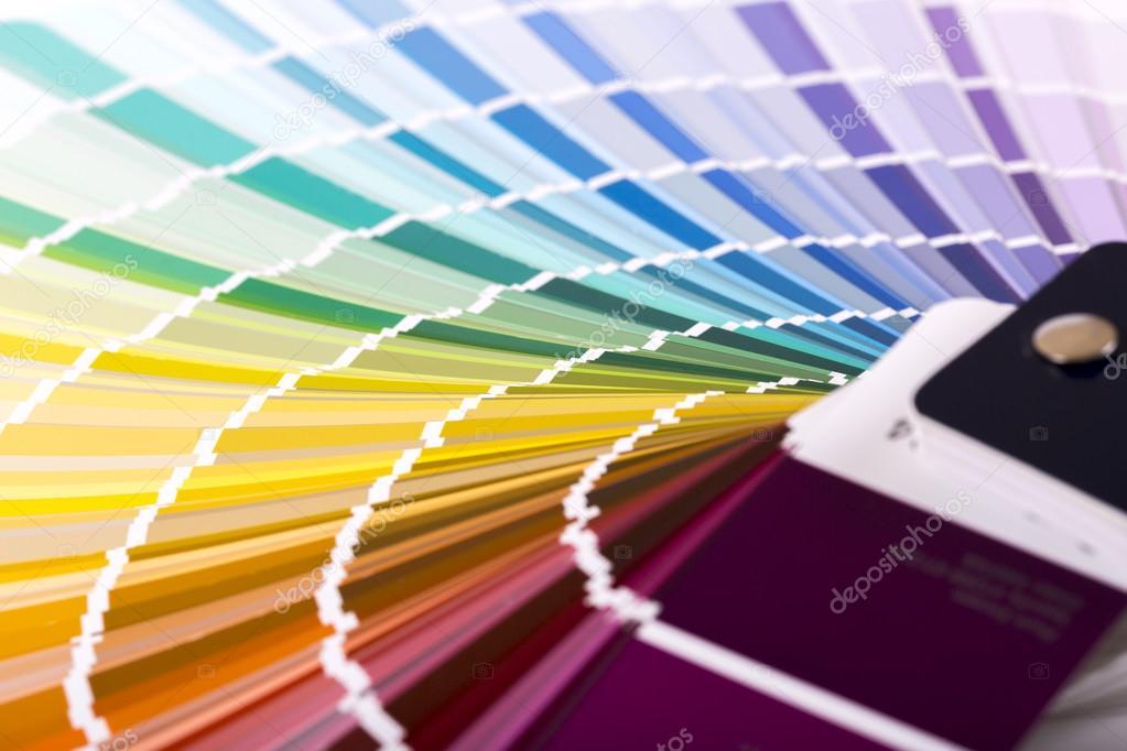 Gros Plan De Peinture Couleur Exemple De Catalogueu2013 Images De Stock Libres  De Droits