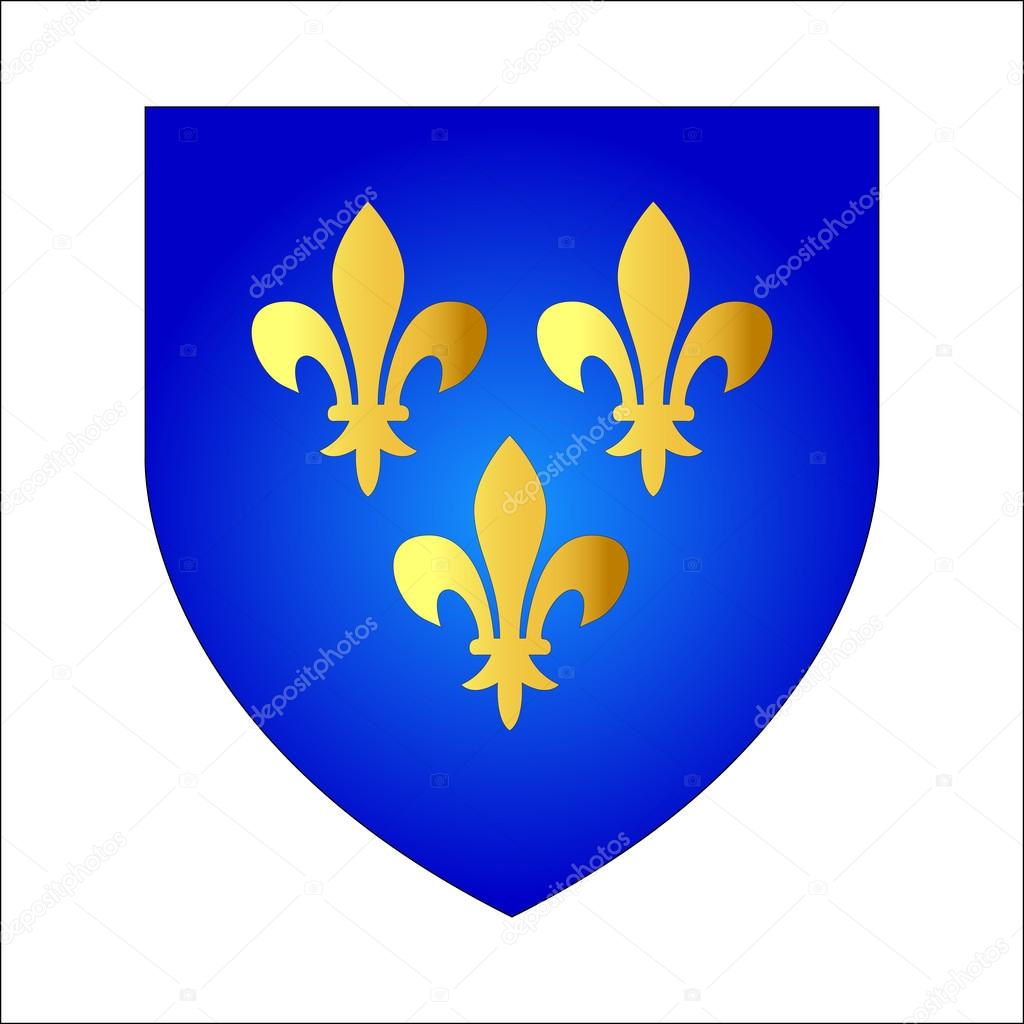 French lily coat of arms of french kings stock vector french lily coat of arms of french kings stock vector biocorpaavc Gallery