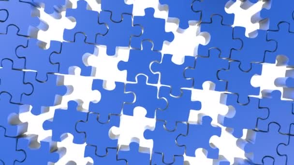 pieces of jigsaw falling