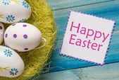 Fotografie ostern eier  in nest