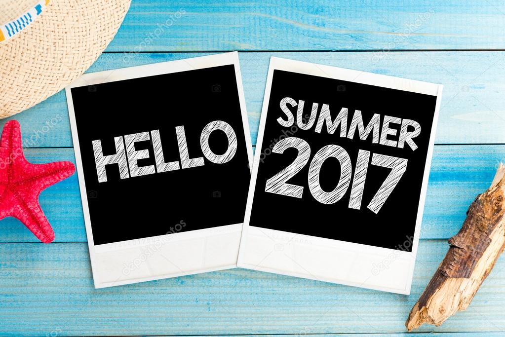 Hello summer 2017 photos — Stock Photo © roobcio #104499770