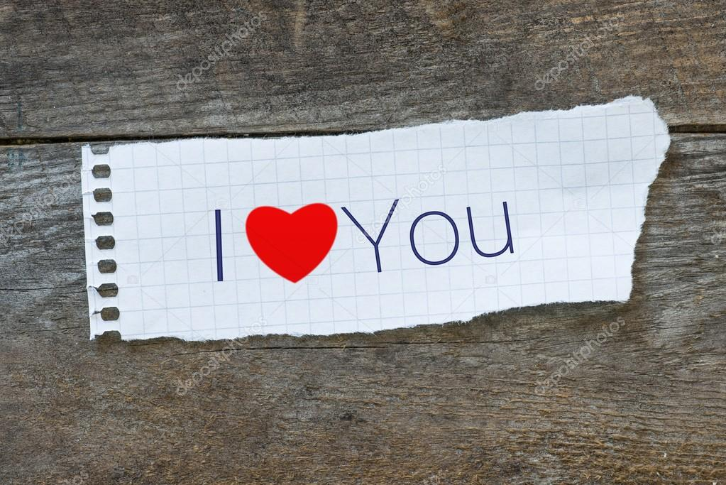 Foto Te Amo Escrito En Papel La Frase Te Amo Con Un Simbolo En