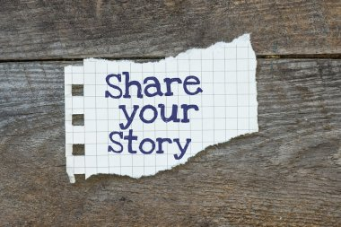 The phrase share Your Story