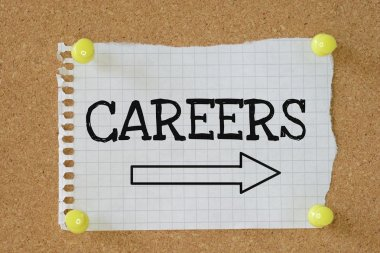 The word Careers above an arrow pointing