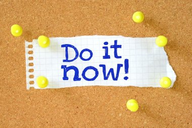 Don it now typed onto a scrap of lined paper
