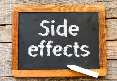 Blackboard with word Side Effects
