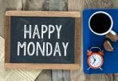Šťastný pondělí nápis na tabuli