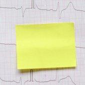 Kardiogram pozadí s poznámkou