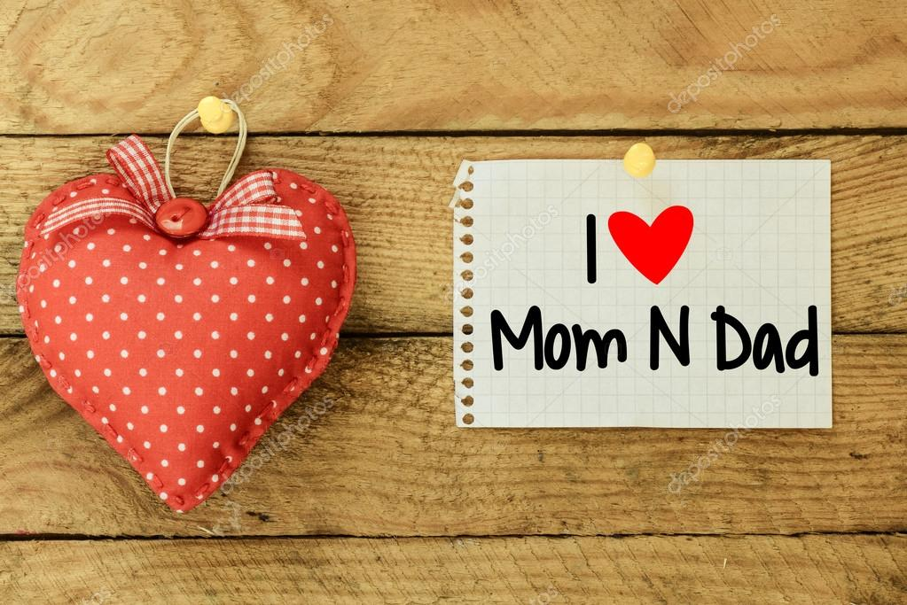 I Love Mom And Dad Card Stock Photo Image By Roobcio 66398093