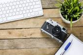Alte Kamera mit Tastatur