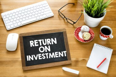 Return on investment  on blackboard