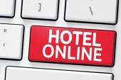Klávesnice s tlačítko online hotel