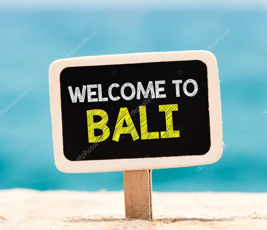 Welcome to bali on chalkboard stock photo roobcio 72737175 welcome to bali on chalkboard stock photo altavistaventures Gallery