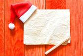Fotografie Veselé Vánoce dopis s santa hat
