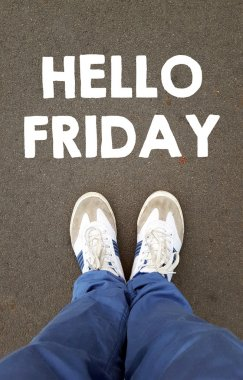 Male sneakers  with hello friday