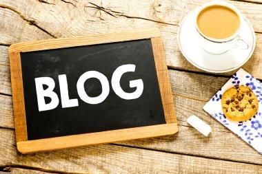 blog on Blackboard with chalk