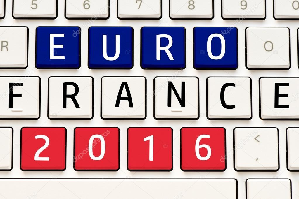 Znak Euro 2016 Francja Zdjcie Stockowe Roobcio 94354632