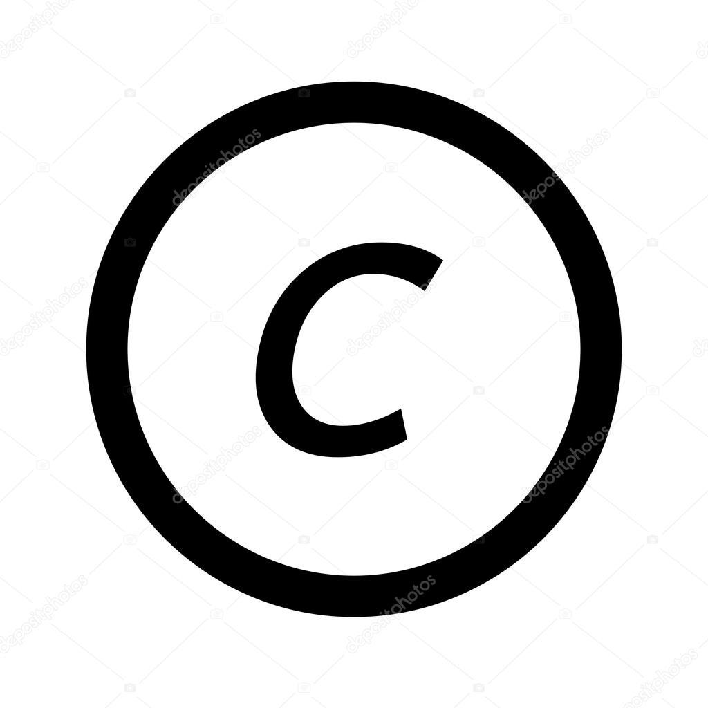 Ícone de fonte básica letra c desenho ilustração vetores de stock