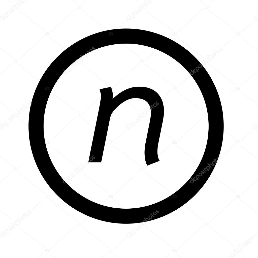 基本的なフォント文字 N アイコン イラスト デザイン ストックベクター