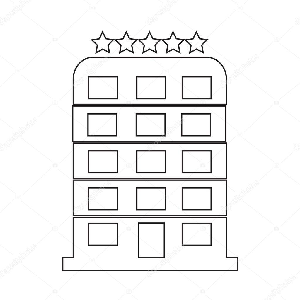 5 Star Hotel Icon Illustration Design Stock Vector