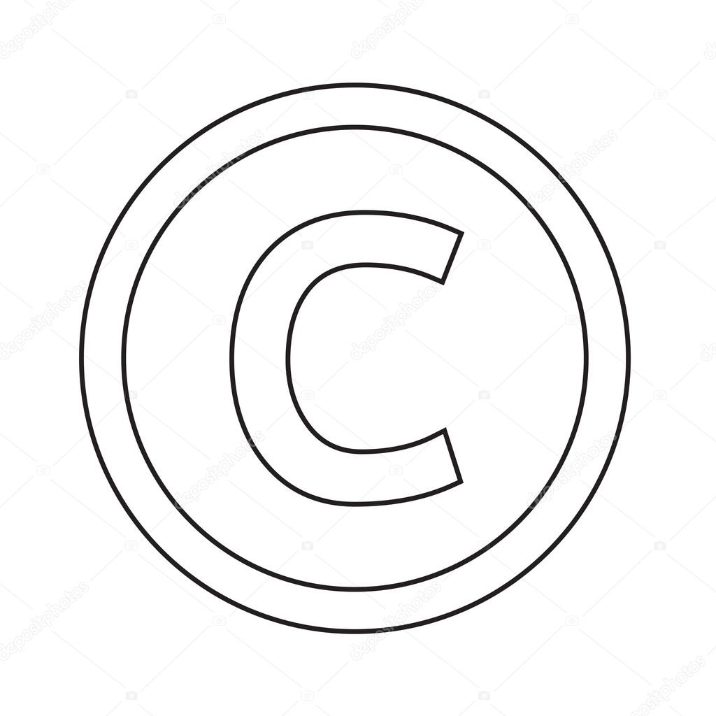 fonte básica para ícone letra c desenho ilustração vetor de stock