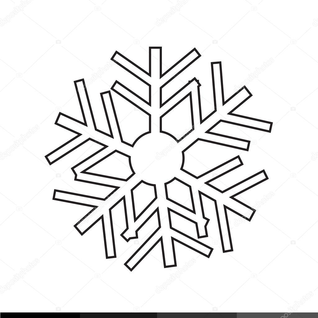 Disegno Di Illustrazione Dell Icona Del Fiocco Di Neve Vettoriali